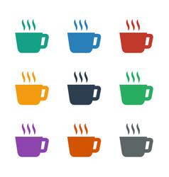 Tea icon white background vector
