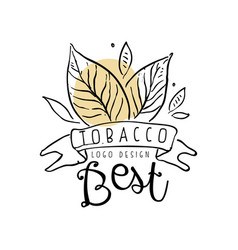 tobacco best logo design emblem can be used for vector image