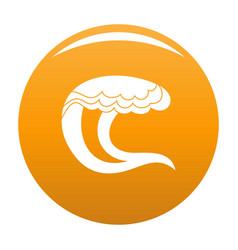 wave water sea icon orange vector image