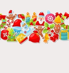 Winter Holiday Seamless Texture vector image