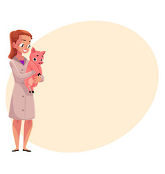 woman female veterinarian doctor vet in medical vector image vector image