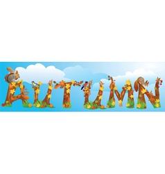 Word autumn vector