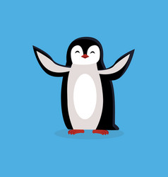 Animal pinguin design flat vector
