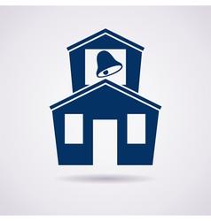 icon of school vector image vector image