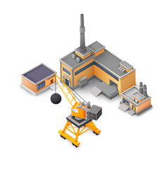 industrial factory design white background concept vector image