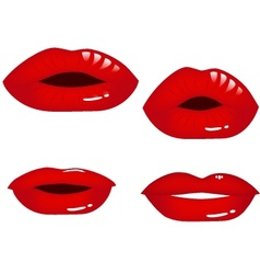 lip collection vector image vector image