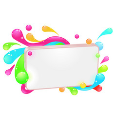 modern funky colorful sign vector image vector image