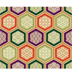 seamless traditional japanese pattern vector image vector image