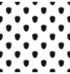 Shield pattern simple style vector image