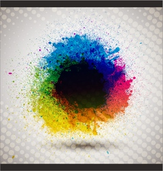 colorful ink splash banner vector image vector image