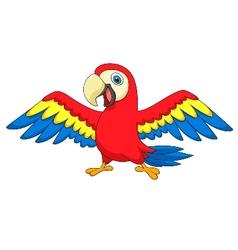 Cute parrot bird cartoon vector image vector image