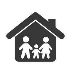 family insurance isolated icon vector image