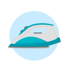 iron housework ironed electric tool clean steam vector image