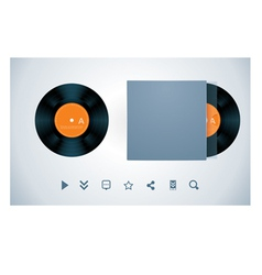 vinyl disk and envelope vector image