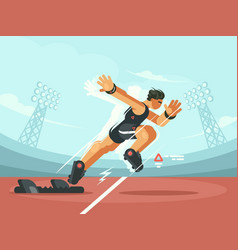athlete sprint start vector image
