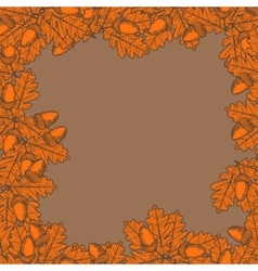 leaf with acorn vector image vector image