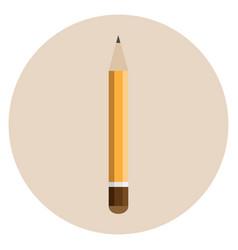 orange thick pencil vector image