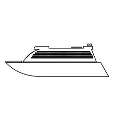 transatlantic cruise liner black color path icon vector image vector image