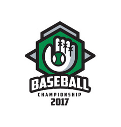 baseball championship 2017 logo design element vector image