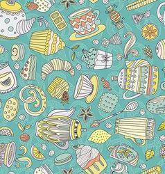Dessert seamless pattern vector image