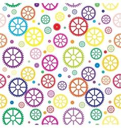 Mechanical wheels seamless vector image