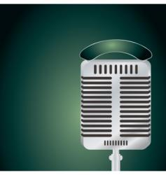 microphone green vector image vector image