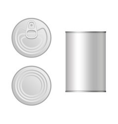 tin can set vector image