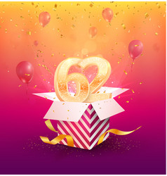 62nd years anniversary design element vector image