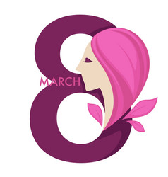 8 march international womens day female holiday vector