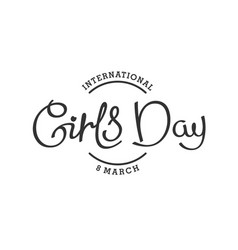 8th march international girls day vector