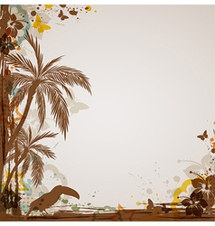 abstract tropical vector image