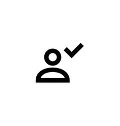 account icon user profile sign vector image