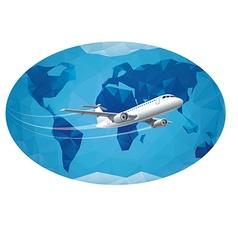 air travel vector image