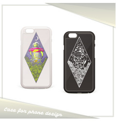 alien case for phone vector image