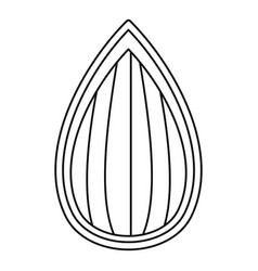 almond shell icon outline style vector image