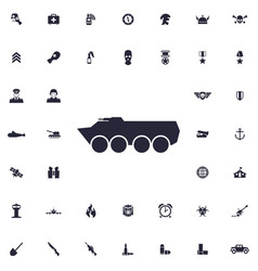 Armored vehicle icon vector