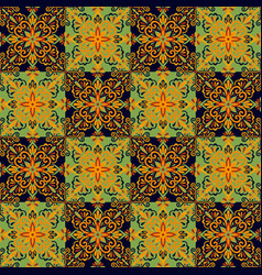 azulejo tile seamless pattern vector image