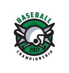 baseball championship 2017 logo design element vector image
