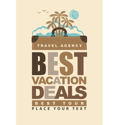 best vacation deals vector image vector image