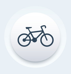 Bicycle icon bike pictogram vector