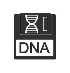 Black icon on white background dna disk vector