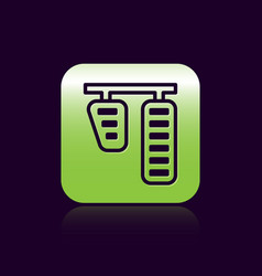 black line car gas and brake pedals icon isolated vector image