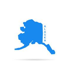 blue simple alaska map logo vector image