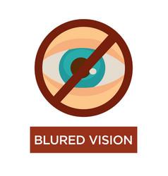 blurred vision human eye disease symptom poor vector image