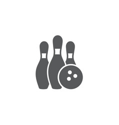 bowling icon on white background vector image