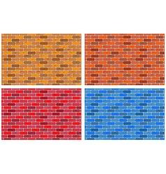 Brick textures vector