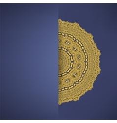 Brown mandala round ornament vector