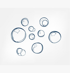 bubble soap line art sketch outline isolated vector image