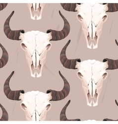 Buffalo skull seamless vector