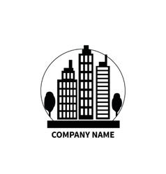Building Logo Sign Design Flat vector image